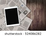 daily news and tablet on the... | Shutterstock . vector #524086282