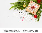christmas and new year 2017... | Shutterstock . vector #524089918