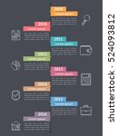 vertical timeline infographics... | Shutterstock .eps vector #524093812