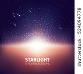 starlight  space background ... | Shutterstock .eps vector #524094778