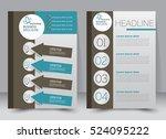 brochure template. business... | Shutterstock .eps vector #524095222