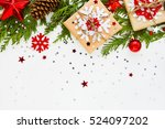 christmas and new year... | Shutterstock . vector #524097202