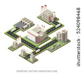 colored layout of factory... | Shutterstock .eps vector #524098468