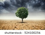 plants and climate change with... | Shutterstock . vector #524100256