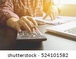 businessman analyzing... | Shutterstock . vector #524101582