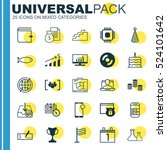 set of 25 universal editable... | Shutterstock .eps vector #524101642