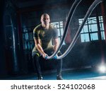 men with battle rope battle... | Shutterstock . vector #524102068