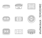 game at stadium icons set.... | Shutterstock .eps vector #524102482