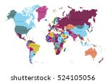 world map countries vector on... | Shutterstock .eps vector #524105056