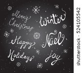 christmas background with... | Shutterstock .eps vector #524105542