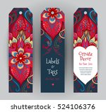 vector ornate vertical cards in ...   Shutterstock .eps vector #524106376