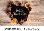 hello december wallpaper with...   Shutterstock . vector #524107672