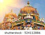 detail work in gopuram  hindu...   Shutterstock . vector #524112886