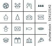 set of 16 christmas icons. can...