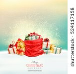 holiday christmas background... | Shutterstock .eps vector #524117158