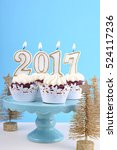 happy new year cupcakes with... | Shutterstock . vector #524117236