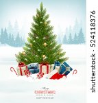 holiday background with a... | Shutterstock .eps vector #524118376