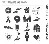 big set of symbols of charity ... | Shutterstock .eps vector #524118586