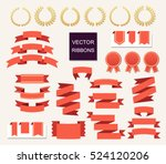 vector collection of decorative ... | Shutterstock .eps vector #524120206