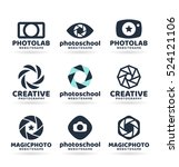 set of photography logo design... | Shutterstock .eps vector #524121106