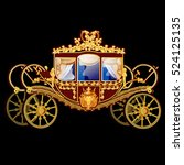 Vintage Horse Carriage With...