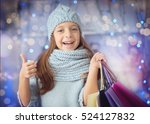 Smiling Little Girl In Hat Wit...