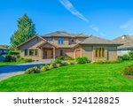 big custom made luxury house... | Shutterstock . vector #524128825