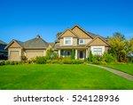 big custom made luxury house...   Shutterstock . vector #524128936