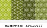 set of flower pattern. seamless....