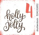 christmas advent calendar set.... | Shutterstock .eps vector #524131852