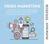 video marketing concept.... | Shutterstock .eps vector #524133136
