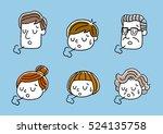 face  facial expression ... | Shutterstock .eps vector #524135758