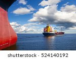 Two Ships In The Sea On A...