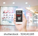 hands holding mobile phone with ... | Shutterstock . vector #524141185