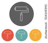 roller brush icon | Shutterstock .eps vector #524145592