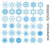 snowflake winter xmas nature... | Shutterstock .eps vector #524150032