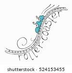 hand drawn sketch doodle roller ...   Shutterstock .eps vector #524153455