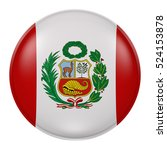 3d rendering of peru flag on a...   Shutterstock . vector #524153878