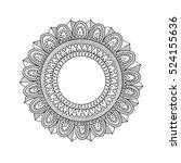 zentangle round mandala. hand... | Shutterstock .eps vector #524155636