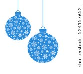 snowflakes on a white... | Shutterstock .eps vector #524157652