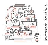 illustration of modern line... | Shutterstock . vector #524157676
