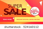super sale offer template for... | Shutterstock .eps vector #524160112