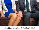 man touching woman's knee  ... | Shutterstock . vector #524160148