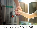 father holding  the daughter ... | Shutterstock . vector #524161042