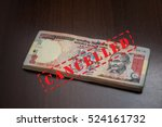 old one thousand rupee indian... | Shutterstock . vector #524161732