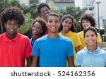 large group of attractive multi ... | Shutterstock . vector #524162356