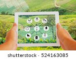 precision agriculture and... | Shutterstock . vector #524163085