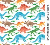 cute dinosaurs pattern for... | Shutterstock .eps vector #524164096