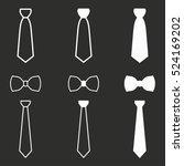 necktie vector icons set. white ... | Shutterstock .eps vector #524169202
