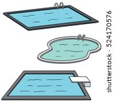 vector set of swimming pool | Shutterstock .eps vector #524170576